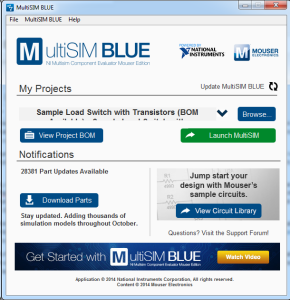 The first dialog MultiSIM BLUE displays